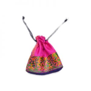 Designer Pink Handmade Pouches With Indian Stitched Designs-0