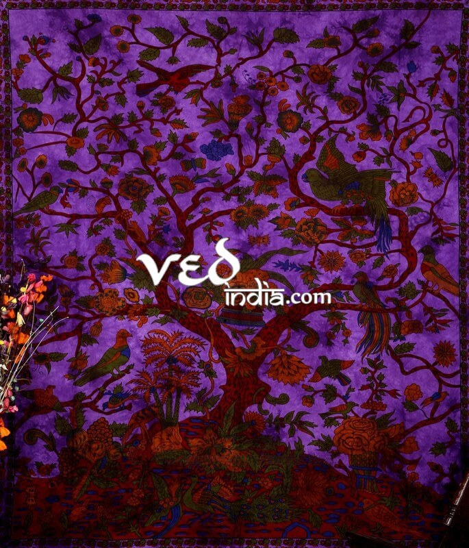 Mandala Purple Tree of Life Bedding
