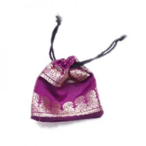 Buy Dazzling Purple Handmade Pouches With Beautiful Zari Work-0