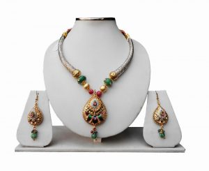 Latest Design Pipe Necklace Set with Jhumkas and Designer Fashion Pendant From India-0