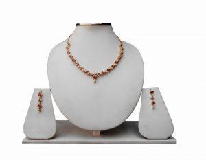 Designer Beautiful American Diamond Necklace Jewelry Set with Earrings-0