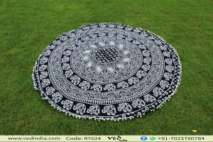 Elephant Roundie Yoga Mat