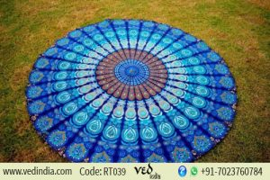 Blue Mandala Hippie Tapestry