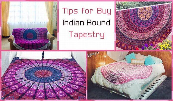 indian round Mandala tapestry