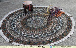 Multicolored Mandala Elephant Tapestry
