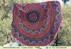 Multicolored Elephant Mandala Tapestry