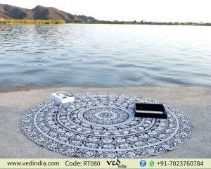 White & Black Elephant Tapestry
