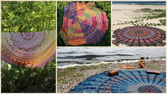 Round Beach Throws Towel tapestry