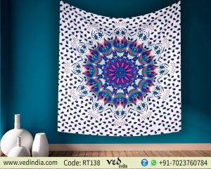 Colorful Ombre Mandala Tapestry