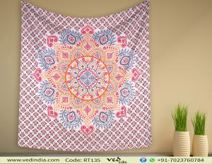 Ombre Mandala Tapestry Wall Bedding