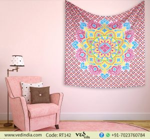 Floral Twin Queen Tapestry Bedspread