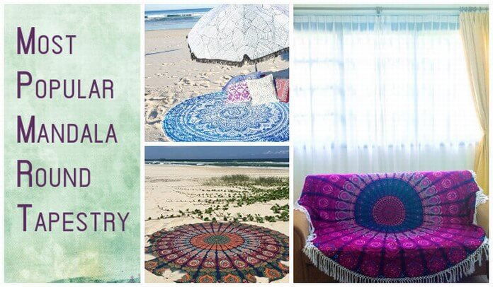 Best Mandala Round Beach Throw Tapestry