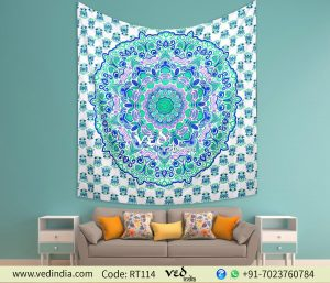 Mandala Bohemian Floral Twin Queen Tapestry Bedspread Throw-0