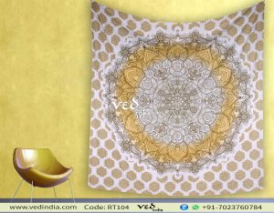 Ombre Indian Mandala Tapestry Wall Hanging-0