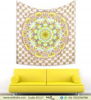 Summer Yellow Ombre Bedspread Dorm Tapestry -0