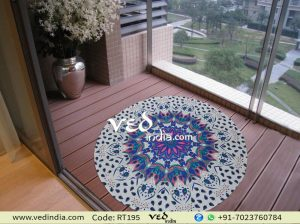 Beach Cotton Rug Mandala Round Roundie Ombre Tapestry-0