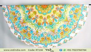 Mandala Round Roundie Beach Towel Throw Tapestry Yoga Mat-0