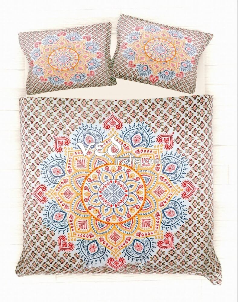 Bohemian Bedding Set Cheap Ombre Print Duvet Bed Covers-3736