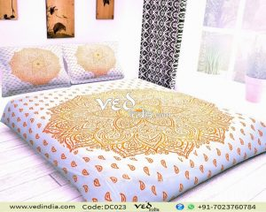 Boho Duvet Covers Twin and Beddings Collection Orange Ombre Print-0