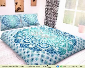Cheap Duvet Cover Sets Queen king With Aqua Blue Ombre-0