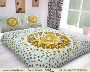 Cheap Mandala Bed Comforter Set King Size With Leaf Pattern-0