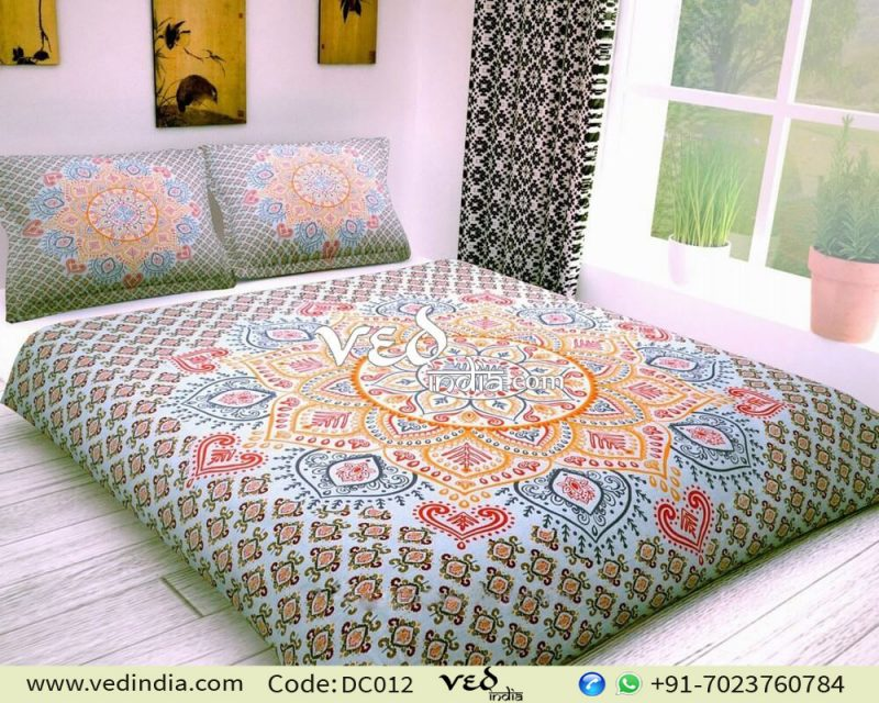 Bohemian Bedding Set Cheap Ombre Print Duvet Bed Covers-0