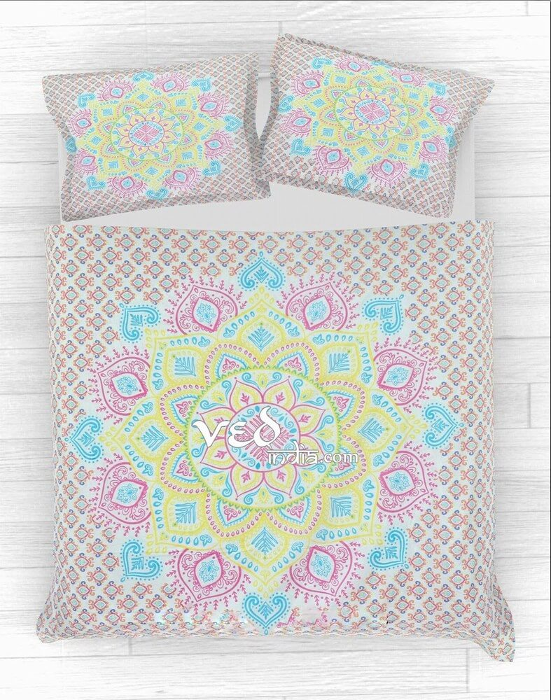Bohemian Duvet Covers king Twin Ombre Design Bedding Sets-3625