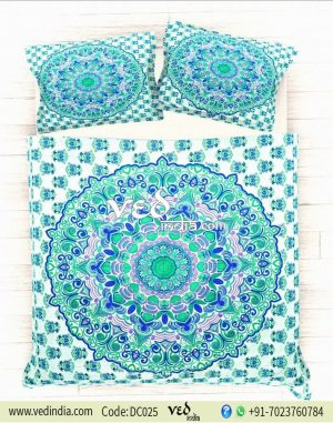 Buy Vintage Duvet Cover Bedding Set king Size in Rangoli Style-0
