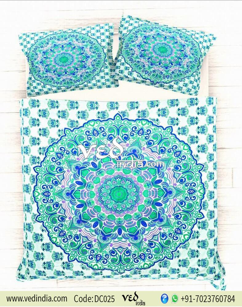 Buy Vintage Duvet Cover Bedding Set king Size in Rangoli Style-0