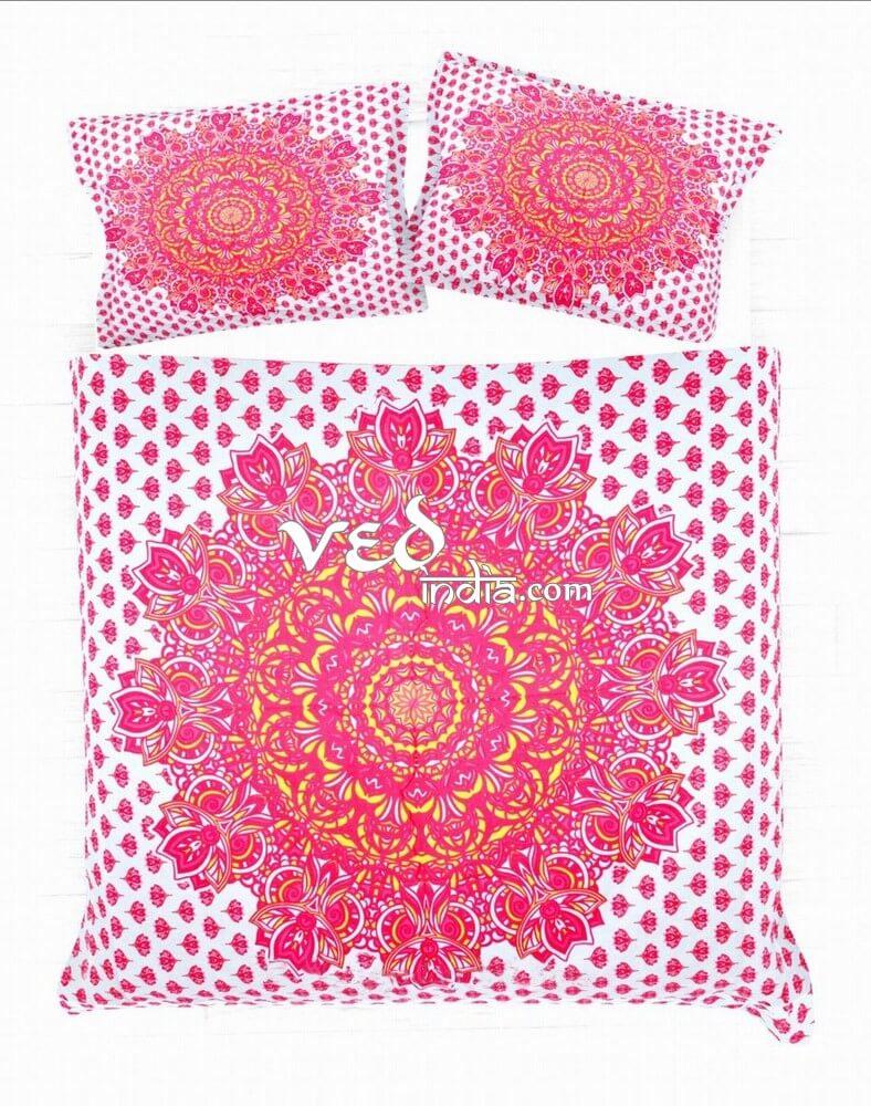 Floral Medallion Comforter Bedding Collection Hot Pink-3777