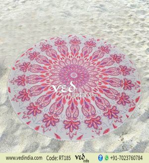 Beach Cotton Rug Floral Mandala Throw Tapestry-0