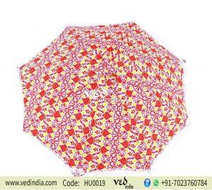 Hippie Parasol Umbrella Tassels FringeTie Dye Printed -0