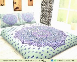 Indian Bohemian Style Bedding in Purple Ombre-0