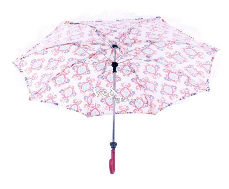 Multicolor Indian Round Long Tassels Sun Umbrella for Walking-3711
