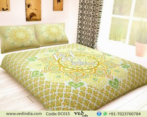 Luxury Indian Bedding Duvet Covers Queen With Ombre Design-0