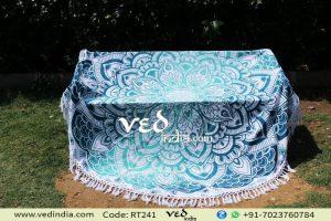 Ombre Indian Round Tassel Mandala Beach Throw Tapestry-0