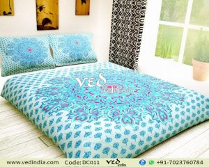 Mandala Duvet Cover Queen Floral Pattern Doona Cover Set-0