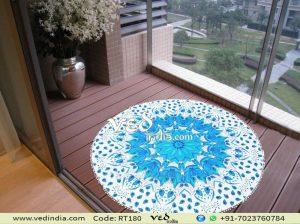 Mandala Round Tapestry Roundie Floral Omber Beach Yoga Mats-0