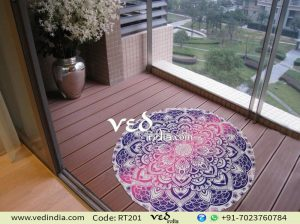 Ombre Round Mandala Beach Towel Pink and Pruple-0