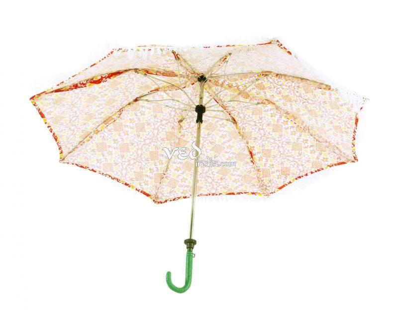 Hippie Parasol Umbrella Tassels FringeTie Dye Printed -3708