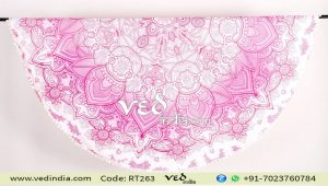 Pink Ombre Cotton Beach Towel Tapestry Rug-0