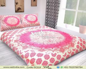 Pink Vintage Floral Quilt Duvet Covers and Bedding Set-0