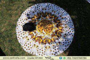 Pom Pom Round Rug Tablecloth Bohemian Roundies Tapestry-0