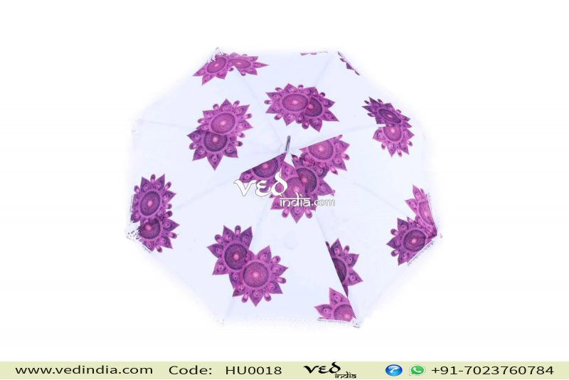 Purple Round Outdoor Umbrella Tassels Decor Sun Protection-0