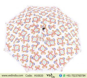 Multicolor Indian Round Long Tassels Sun Umbrella for Walking-0