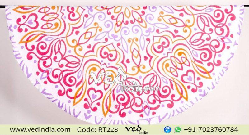 Beach Cotton Rug Round Mandala Tapestry Yoga Mat-0