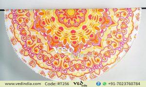 Mandala Tapestry Round Roundie Rangoli Beach Throw -0