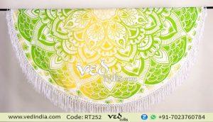 Round Mandala Tassel Fringe Indian Circle of Ombre Tapestry-0