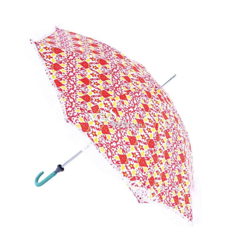 Hippie Parasol Umbrella Tassels FringeTie Dye Printed -3710