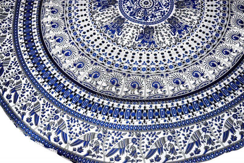 Indian Mandala Round Roundie Beach Tapestry Animal Birds-3870